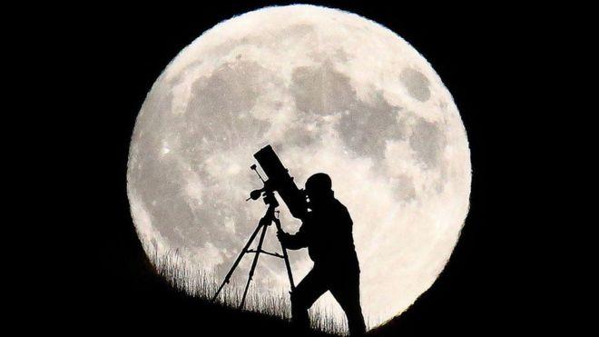 telescopio para ver la luna